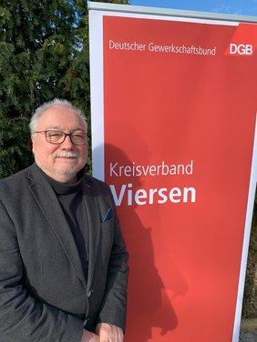 Klaus Neufeldt (GEW) als neuer DGB-Vorsitzender des Kreisverbandes Viersen gewählt