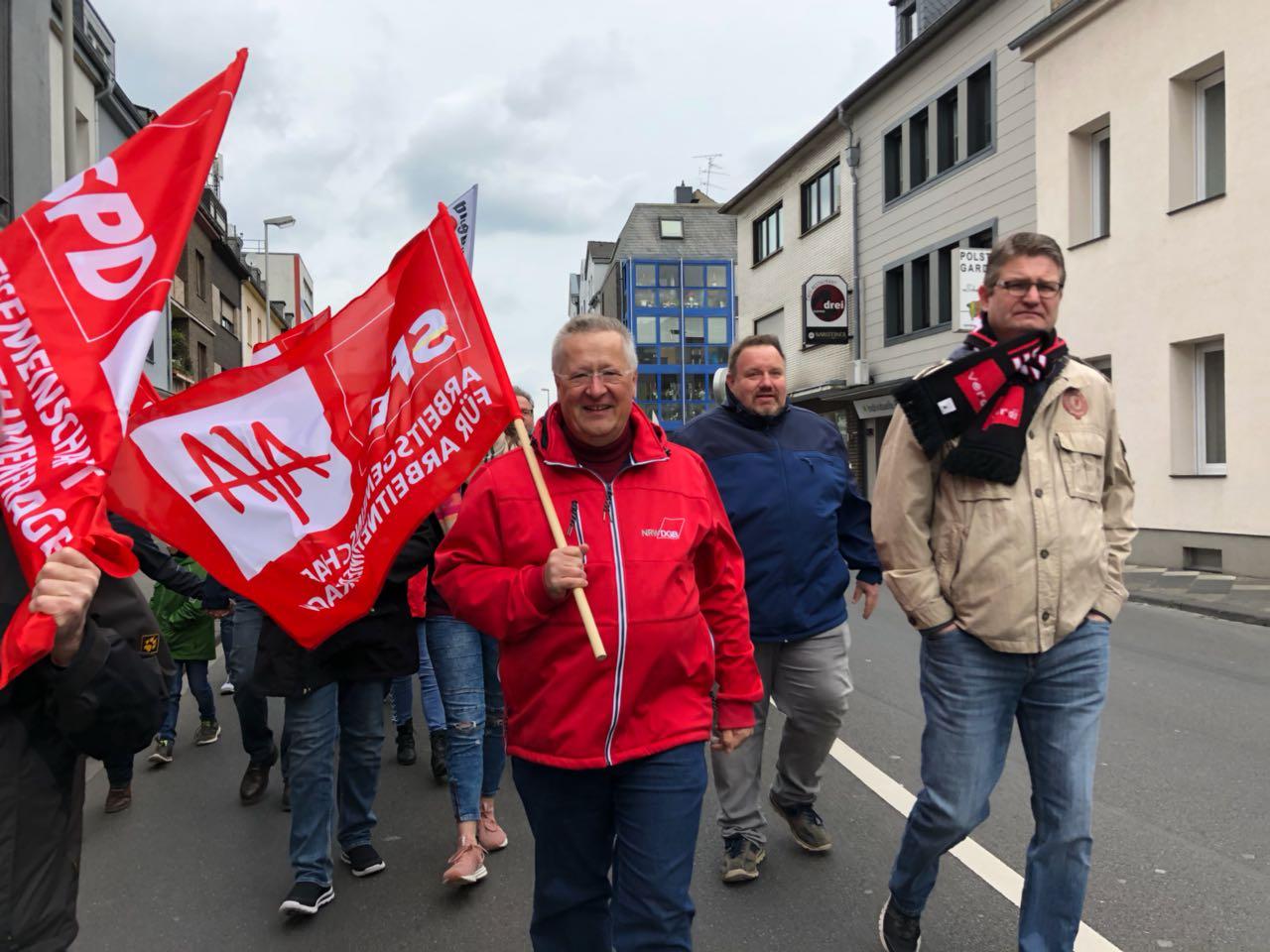 Demo in Mönchengladbach mit Gunter Fischer