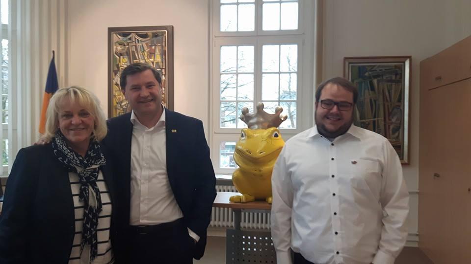 Besuch im Rathaus Solingen