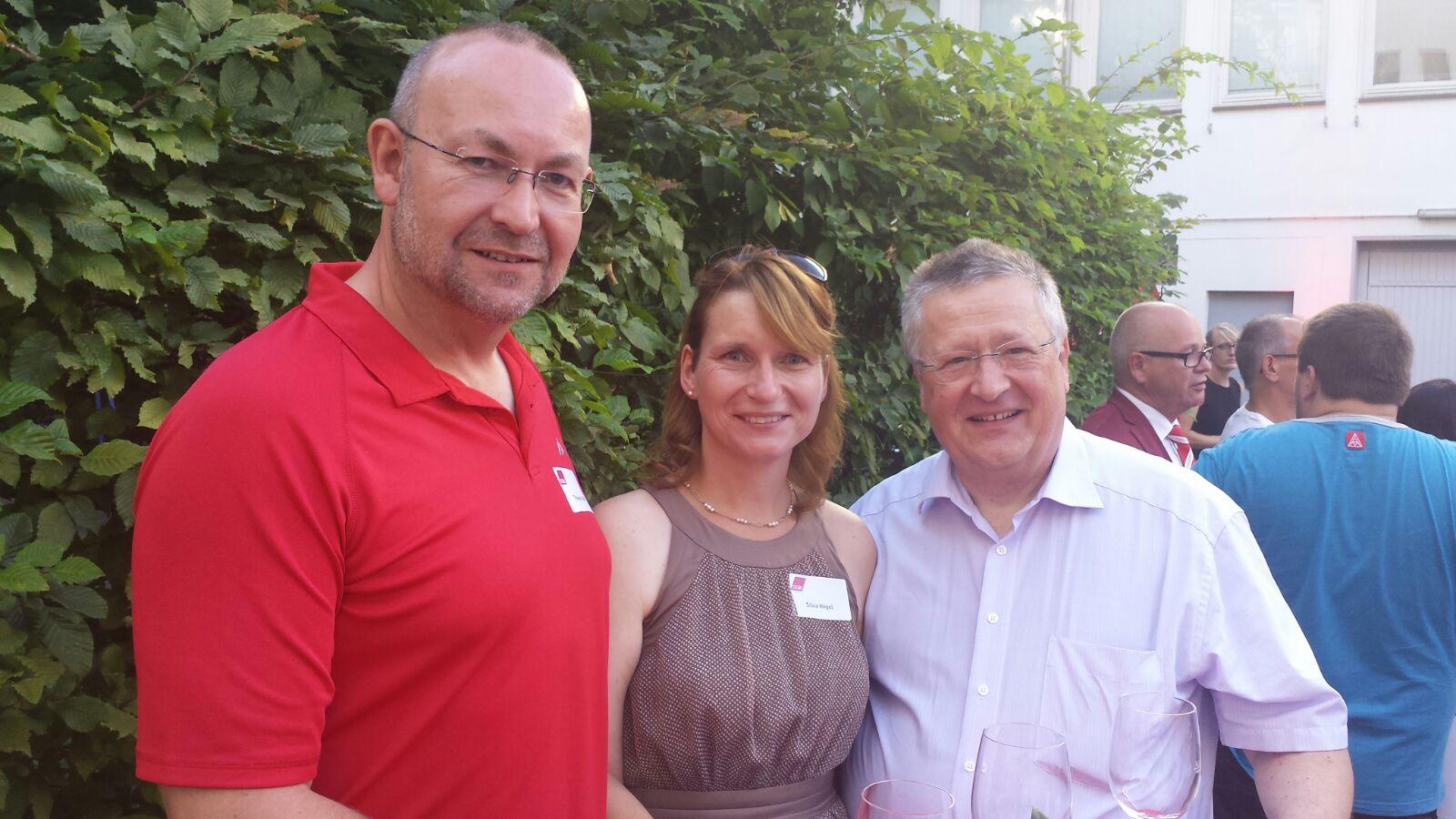 V.l.n.r. Thomas Högel, Silvia Högel, Gunter Fischer