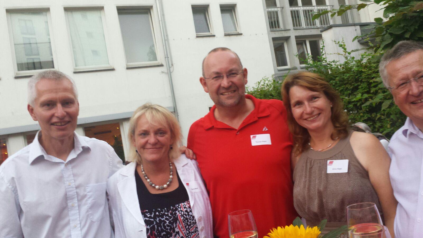 V.l.nr. Klaus Churt, Sigrid Wolf, Thomas Högel, Silvia Högel, Gunter Fischer.