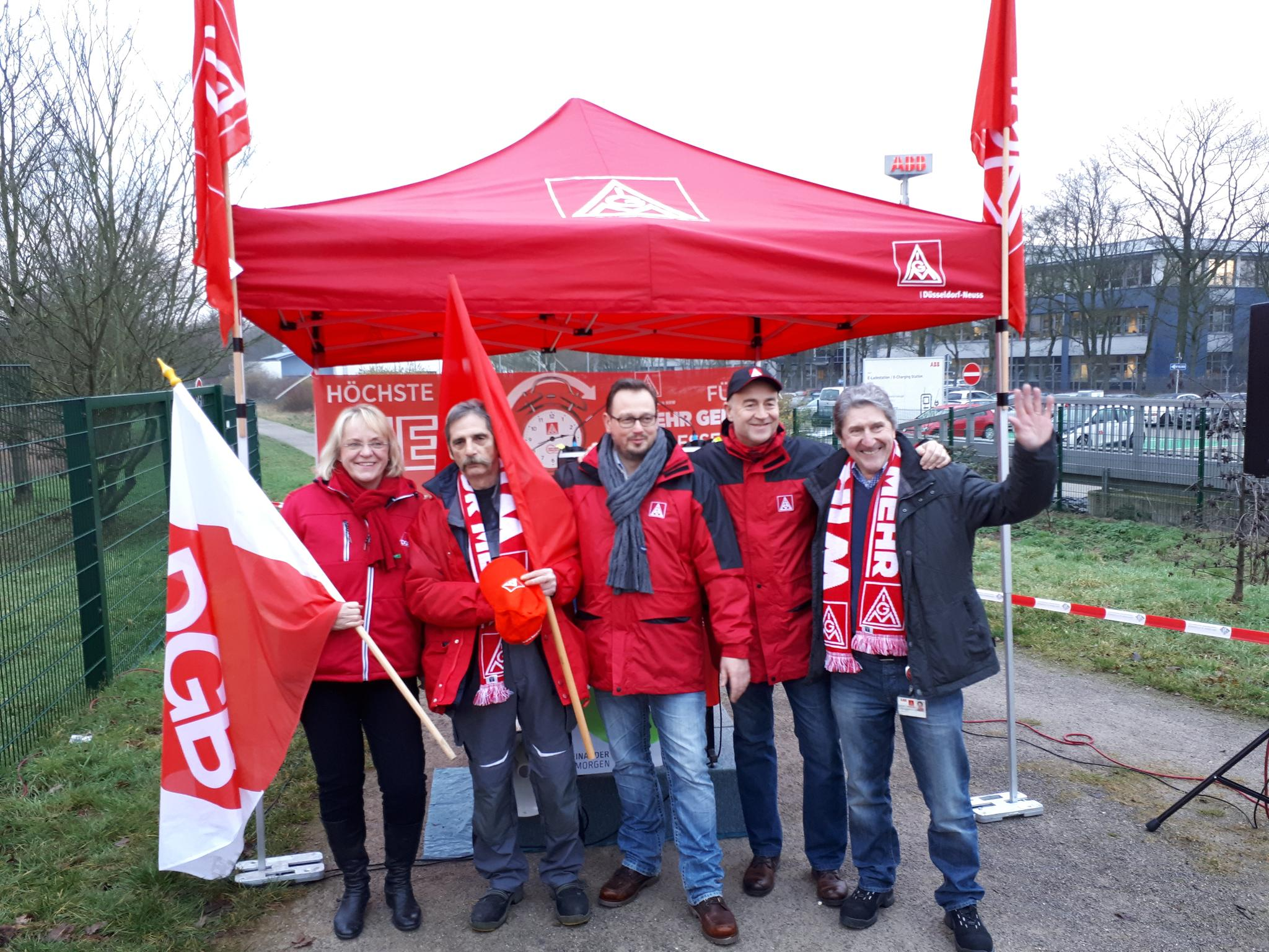Warnstreik bei ABB in Ratingen