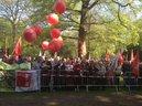 Zuhörer bei der Maiveranstaltung in Düsseldorf